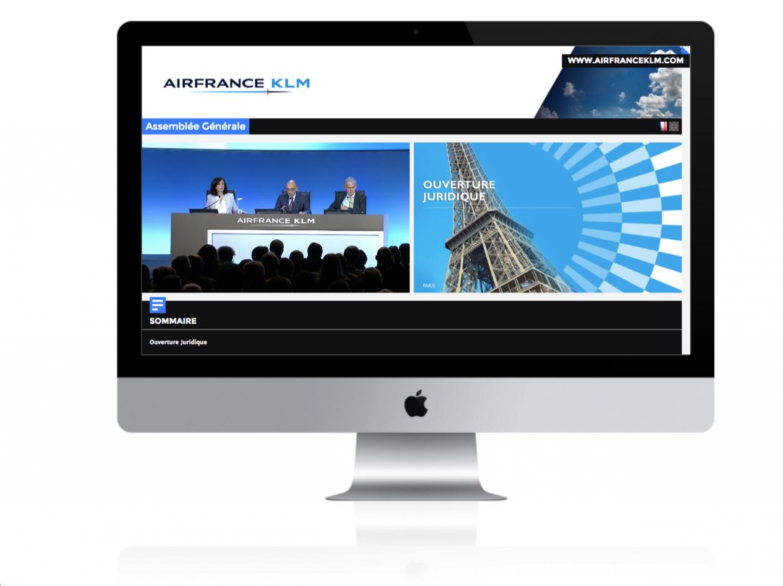 Diffusion live streaming en direct sur Internet & live streaming d'événement pour Air France