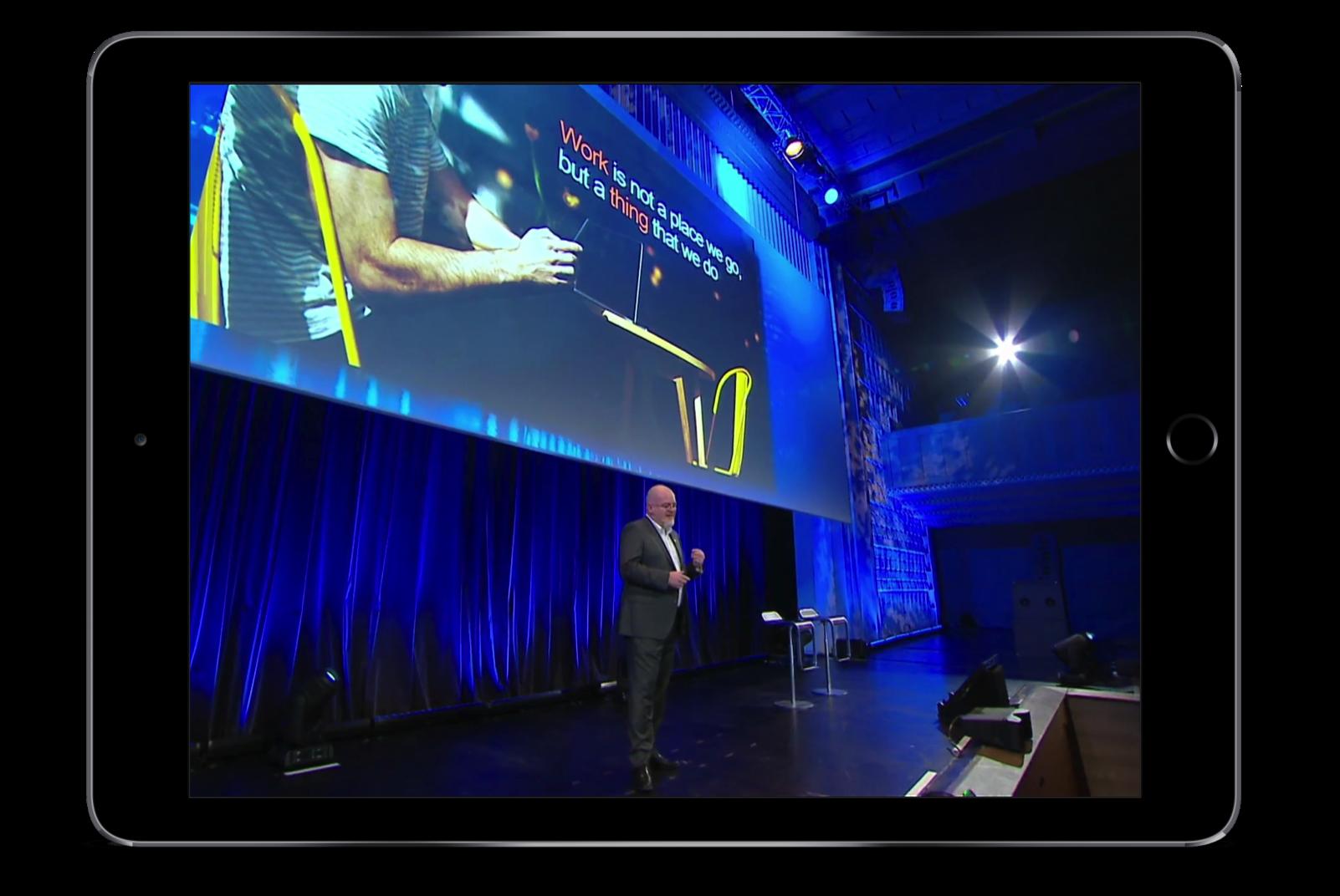 diffusion et retransmission en direct par un live streaming de conférence sur interner